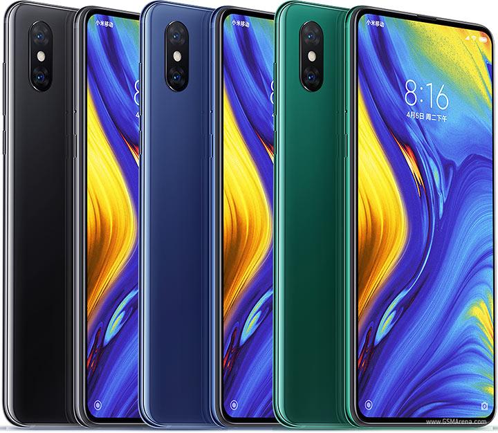 Xiaomi Mi Mix, noir, bleu et vert
